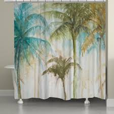 laural home watercolor palm trees shower curtain walmart com