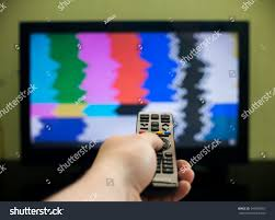 Couch Potato Tv Remote Control Hand Front Tv Couch Stock Photo 549099367