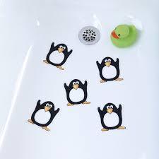 Anti Slip Stickers For Bathtub Penguin Treads Fun Non Slip Tub Tattoos For Kids