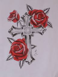 latest rose cross and rosary tattoo designs photos pictures and