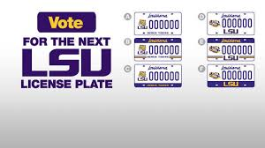 lsu alumni license plate vote for the next lsu license plate design lsusports net the