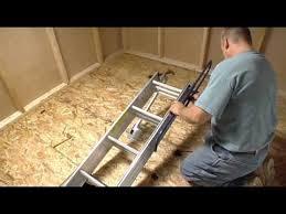 werner compact attic ladder short installation video youtube