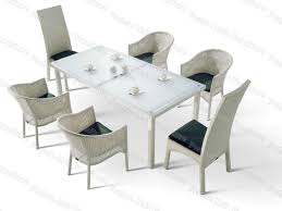 Rattan Patio Dining Set - collection white rattan garden furniture pictures garden and kitchen