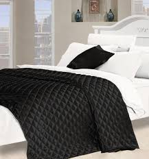 black quilted bedspreads desire faux silk bedspread in black