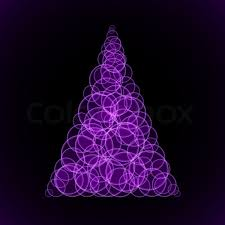 purple christmas tree abstraction purple christmas tree on black background illustration