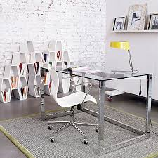 Glass Office Desk Furniture Small Glass Desk For Home Office Space Furniture