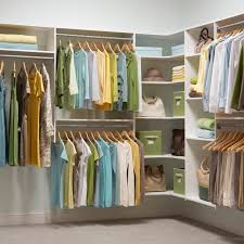 decor martha stewart closets in white with hanging clothes and