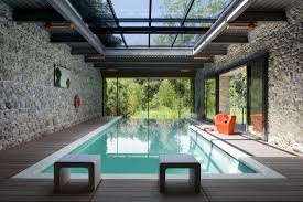 modern steel and glass houses buildings raised picture on