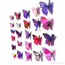 s5q home decor 3d wall stickers 12 x butterfly art design decal