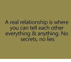 Real Relationship Memes - a real relationship is where you can tell each other everything