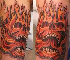 devoted ink tattoos part arm sleeve skull