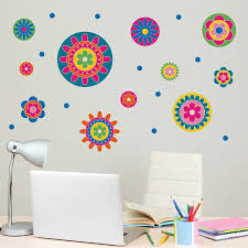 flower wall stickers flower medallion girls wall stickers
