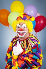 balloons clown image 06903300 happy clown with balloons giving thumbs up sign jpg