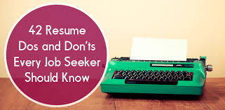 What Special Skills To Put On Resume Resume Dos And Don U0027ts Resume Tips The Muse