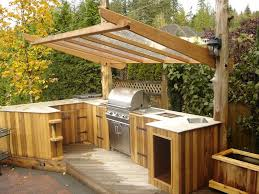 backyard kitchen ideas outdoor kitchen ideas patio traditional with bbq cedar clear roof