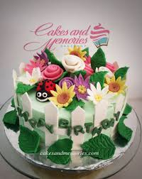 flower garden cake u2013 cakes and memories