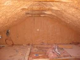 spray foam insulation was installed on the underside of the roof