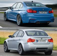 Bmw M3 Old Model - comparison f80 m3 versus e90 m3 sedan