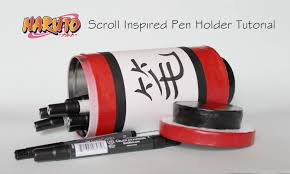 tutorial naruto naruto scroll inspired pen holder tutorial cosplay pinterest