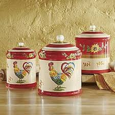 rooster kitchen canisters french country kitchen rooster motif rooster canisters storage