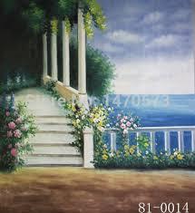Wedding Backdrop Background 10x10 U0027 Hand Painted Canvas Scenic Old Master Photo Backdrop