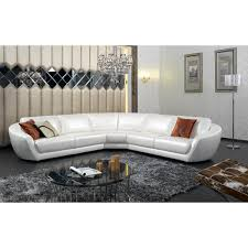 White Italian Leather Sectional Sofa Alluring White Leather Sectional Sofa Ideas For Living Room