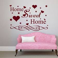 aliexpress com buy wall decals quotes home sweet home heart aliexpress com buy wall decals quotes home sweet home heart decal living room vinyl decor art from reliable decorative art work suppliers on homely