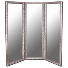 Antique Room Divider Astoria Grand Carrick Antique Silver Beaded 3 Panel Mirror Room
