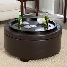 round storage ottoman coffee table foter