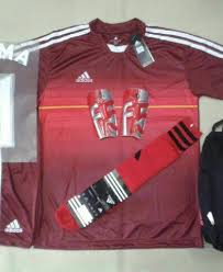 desain kaos futsal jepang setelan kaos futsal bola adidas motif japan merah rumah jersey