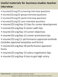 Teachers Resume Sample Objectives by Top 8 Business Studies Teacher Resume Samples