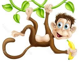 best free monkey swinging clipart drawing