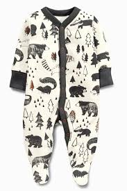 grey alpine fox sleepsuits two pack 0mths 2yrs from the next