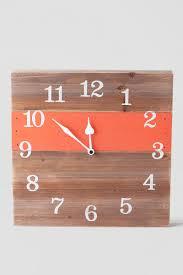 coral wooden wall clock francesca u0027s