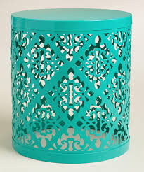 Outdoor Accent Table Lagoon Metal Lailani Outdoor Stool Everything Turquoise
