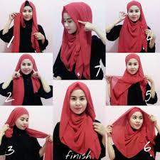 tutorial hijab pashmina tanpa dalaman ninja fluffy hijab kebaya pesta