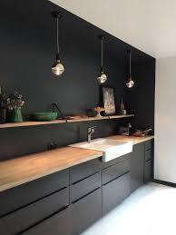 cuisine noir et jaune cuisine noir et bois images avec cuisine noir et bois jaune blanc