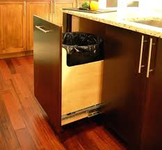 Kitchen Cabinet Trash Garbage Can Cabinet This Is The Smartest Trash Can Cabinet