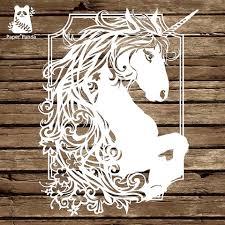 paper panda papercut diy design template u0027exuberance u0027 magical