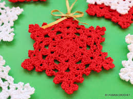 crochet pattern crochet snowflake pattern