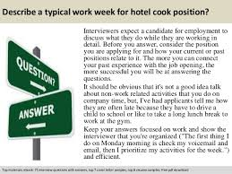 Resume Sample For Cook Position Hotel Cook Interview Questions