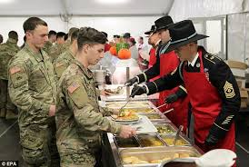 president wishes us soldiers a happy thanksgiving daily
