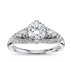 2 engagement rings truly zac posen vintage three engagement ring in 14k