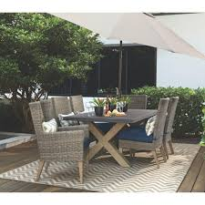 Home Depot Outdoor Decor Home Decorators Collection Naples Grey Wicker All Weather Patio