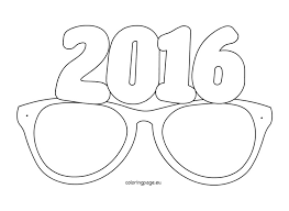 paper glasses 2016 coloring page