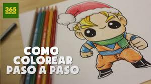 imagenes de goku para dibujar faciles con color como colorear con lapices paso a paso color as step by step como