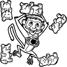 cloudy chance meatballs monkey jelly bean bear coloring