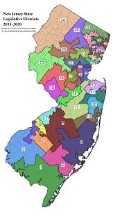New York Map Districts by New Jersey Legislature Districts By Number