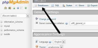 Mysql Change Table Collation How To Create A Mysql Database With Phpmyadmin Webvault Help Centre