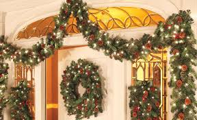 improvements indoor outdoor lighted christmas garland how to decorate garland improvements blog